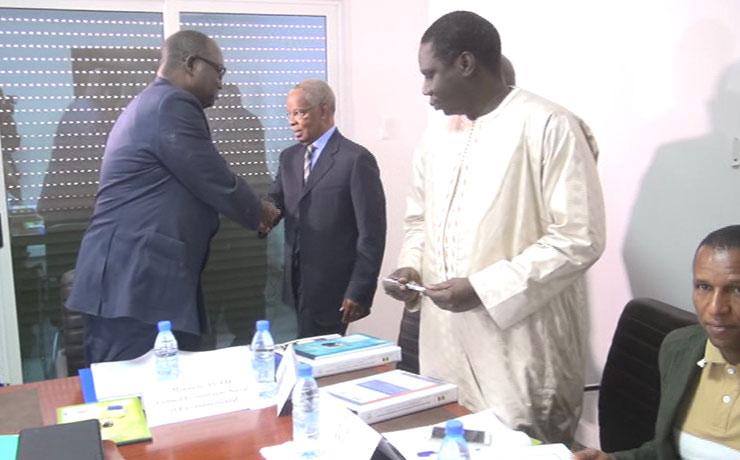 Aliou SALL recoit le president de la CNDT